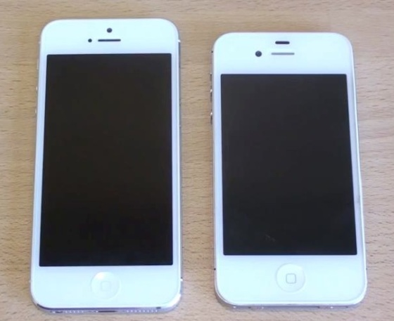 iPhone 5 next to the iPhone 4S