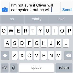 iOS 8 QuickType