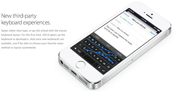 iOS 8 Third Party Keyboard Support