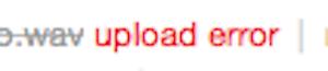 BandCamp Failed Upload