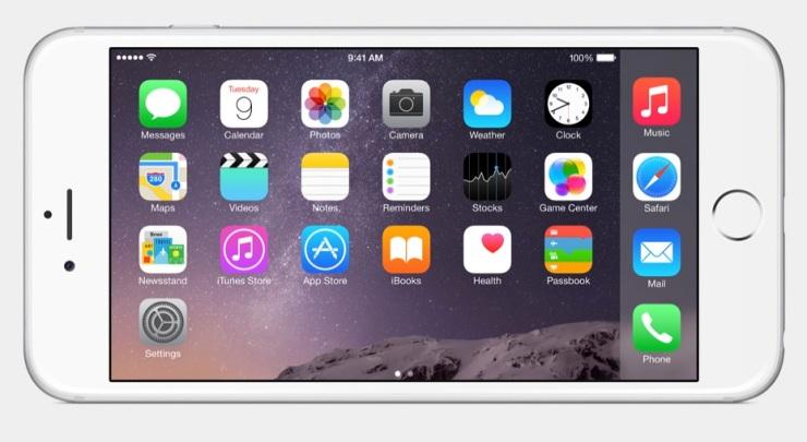 iPhone 6 landscape homescreen