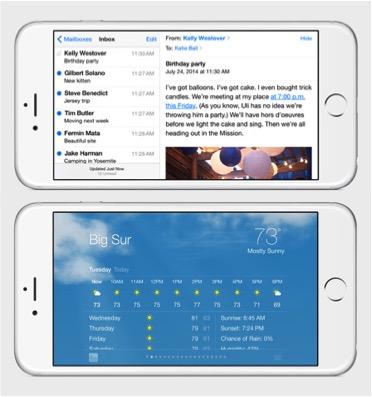 iPhone landscape apps