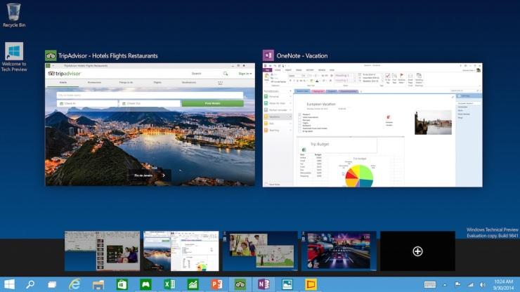 Windows 10 Multiple Desktops