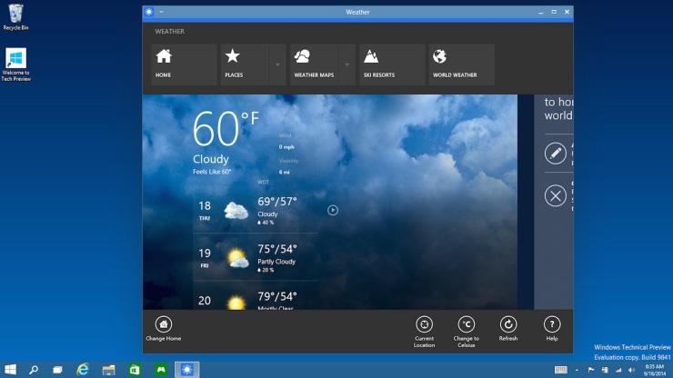 Windows 10 Windowed Store Apps