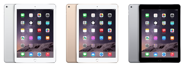 iPad Air 2 Colours