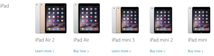iPads in 2014
