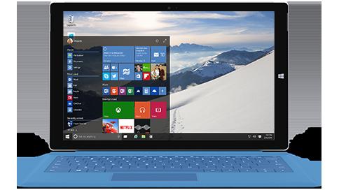 Surface Pro 3 running Windows 10
