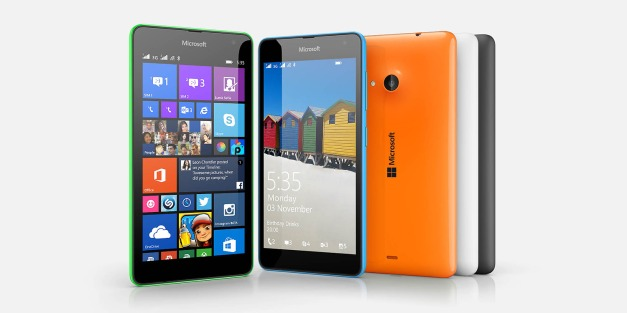 Lumia 535 - Click the image to visit Microsoft's Lumia 535 page