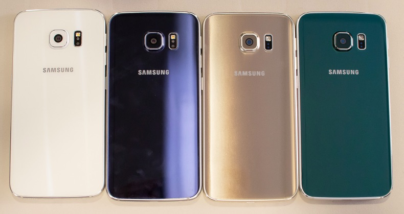Galaxy S6 White Black Gold Green