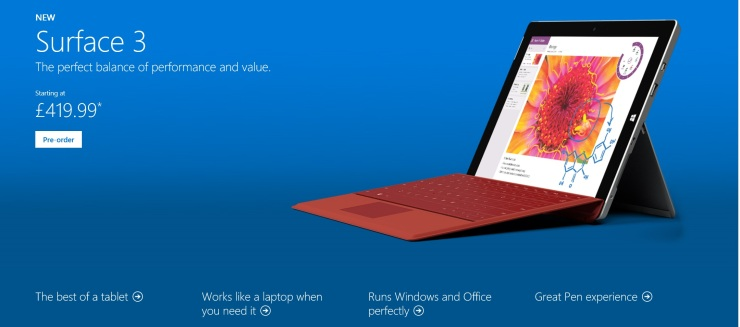 Surface 3 Banner