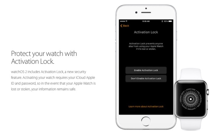 Activation Lock Apple Watch OS 2