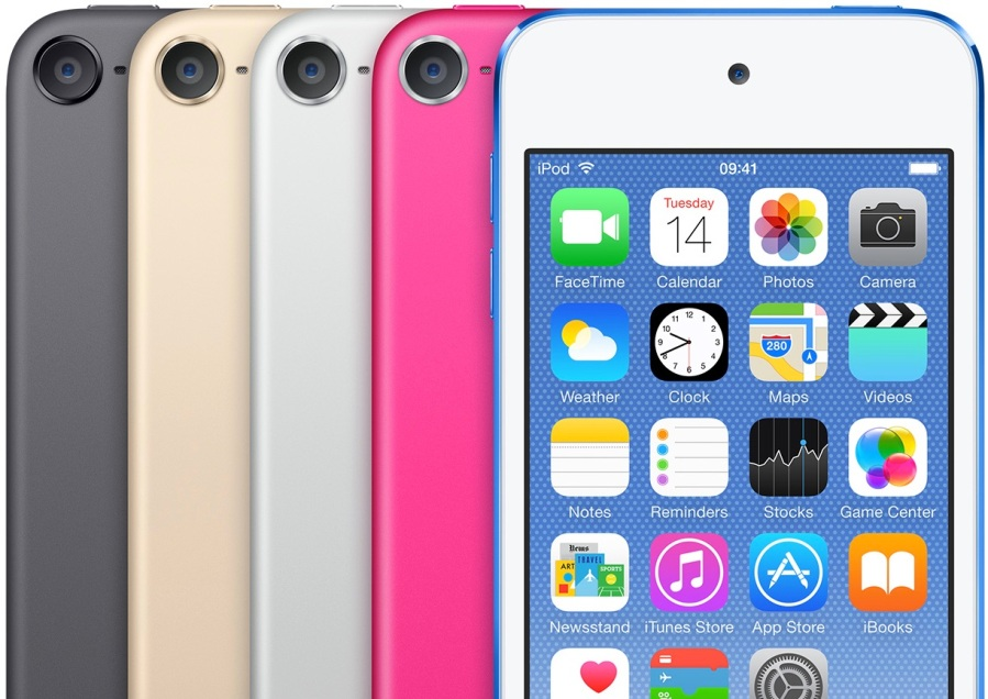 iPod touch in it's 5 traditional colours, yes a Product RED version is still available