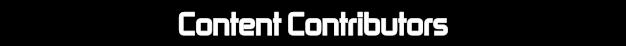 Content Contributors