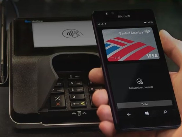 Microsoft Wallet app NFC Payment