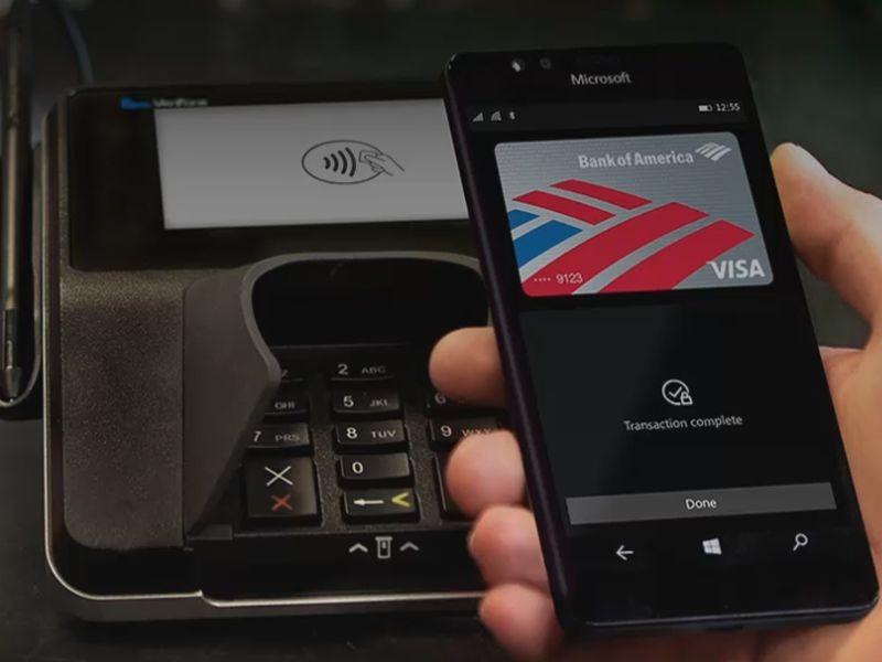 Microsoft Wallet app NFC Payment