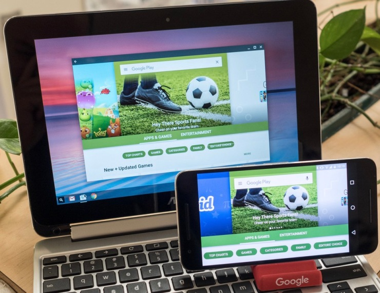 Play Store running on both Android and Chrome OS