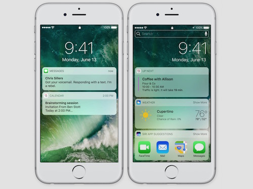 IOS 10 Lock and Search