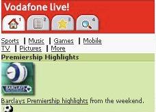 Vodafone Live WAP