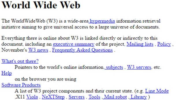 The first ever Web Page