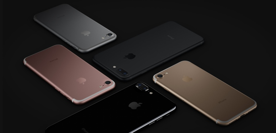 Apple iPhone 7 Colour options