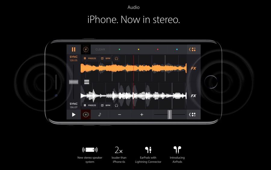 iPhone 7 stereo speakers