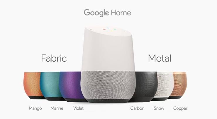 google-home-colour-options