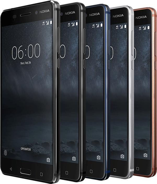 Nokia 6 colours